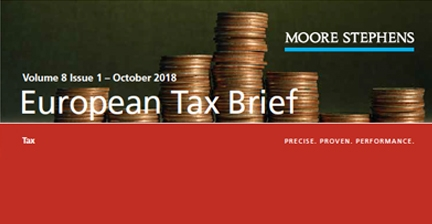 European Tax Brief October 2018